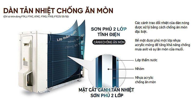 hệ thống máy lạnh daikin multi s inverter 2.0hp - 1 dàn nóng 2 dàn lạnh (1.0 + 1.5hp) mkc50rvmv-ctkc25rvmv+ctkc35rvmv